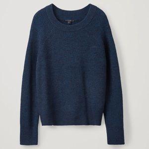 COS Cotton Alpaca Wool Blend Sweater Size Large